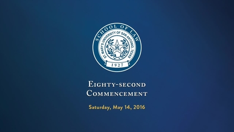 Eighty-Second Commencement - May 14, 2016