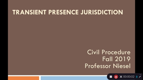 Thumbnail for entry Transient Presence Jurisdiction