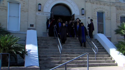 Thumbnail for entry Exiting out of St. Louis Hall--Fall 2019