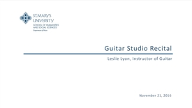 Thumbnail for entry Guitar Studio Recital--November 21, 2016