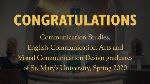 Thumbnail for entry CM, EA & VCD Graduates - May 2020