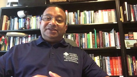 "Thumbnail for entry Dean Winston Erevelles wishes St. Mary's community to ""stay safe, stay connected"""