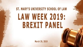 Thumbnail for entry Brexit Panel-March 29, 2019