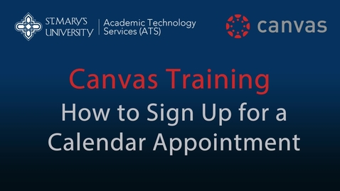 Thumbnail for entry Canvas Appointment Signup