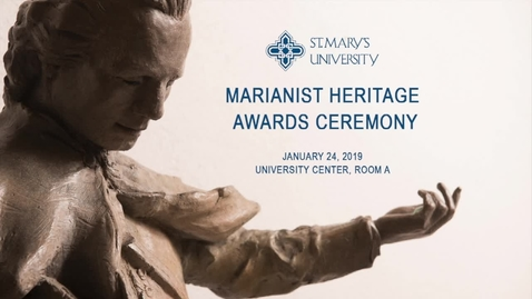 Thumbnail for entry Marianist Heritage Awards Ceremony--January 24, 2019