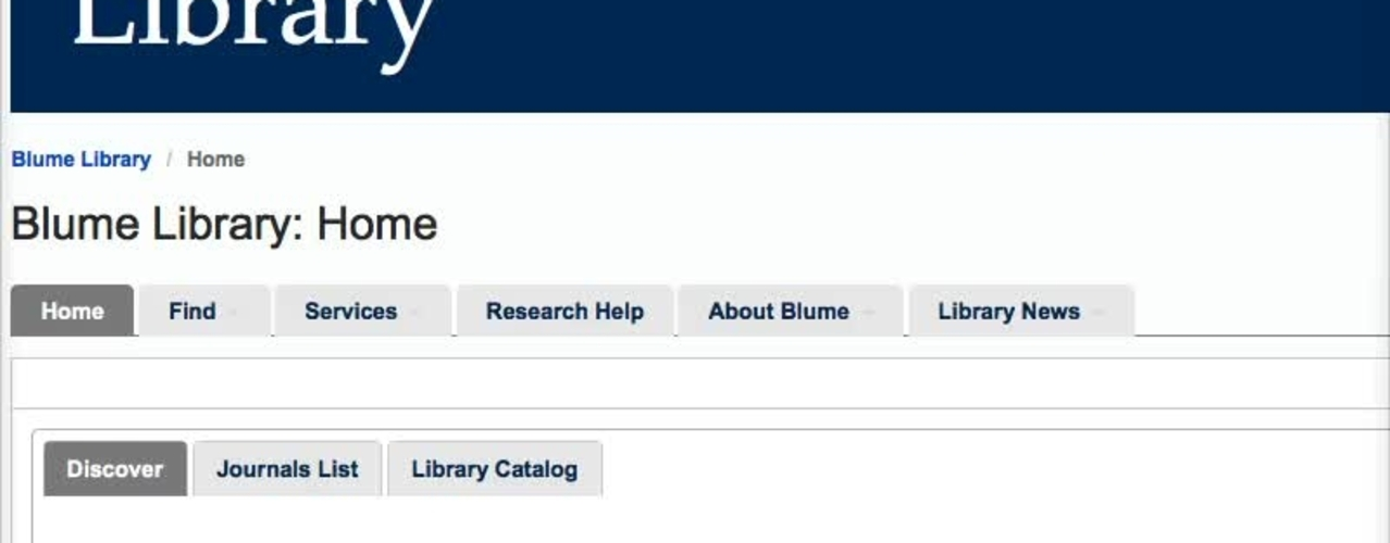 Blume Library Introduction