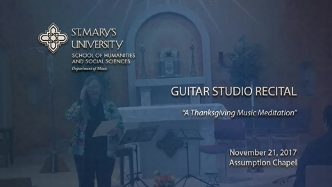 Thumbnail for entry Guitar Studio Recital -- November 21, 2017