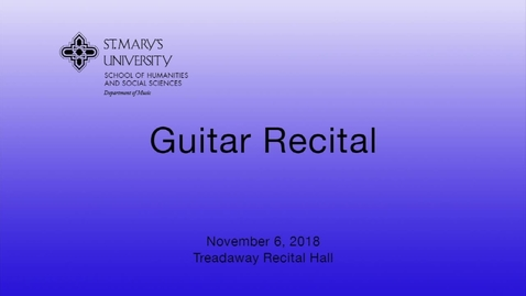 Thumbnail for entry Guitar Studio Recital-- November 5,  2018