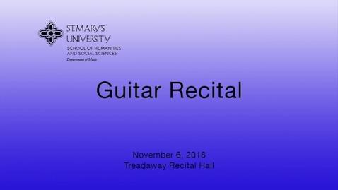Thumbnail for entry Guitar Studio Recital-- November 5,  2018