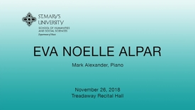 Thumbnail for entry Eva Noelle Alpar - November 26, 2018