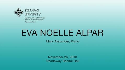 Thumbnail for entry Eva Noelle Alpar - November 26, 2018