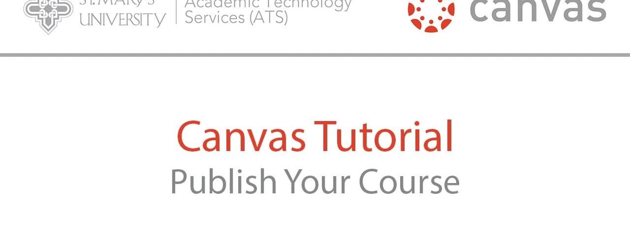 Canvas Course Publishing