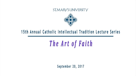 Thumbnail for entry 2017 Catholic Intellectual Tradition Series featuring Kevin Heider