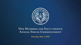 Thumbnail for entry  One Hundred and Sixty-Fourth Annual Spring Commencement - May 7, 2016