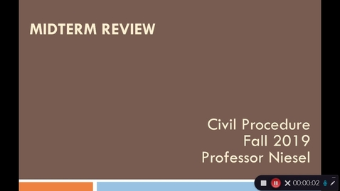 Thumbnail for entry Midterm Review - Civ Pro Fall 2019