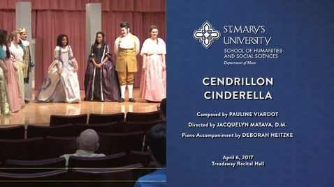 Thumbnail for entry Opera Workshop Cendrillon (Cinderella) -- April 6, 2017