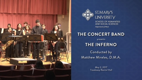 Thumbnail for entry Concert Band The Inferno-May 7, 2017