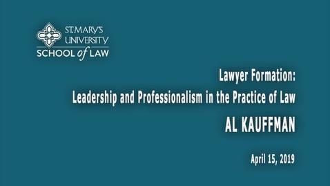 Thumbnail for entry Al Kauffman / April 15, 2019