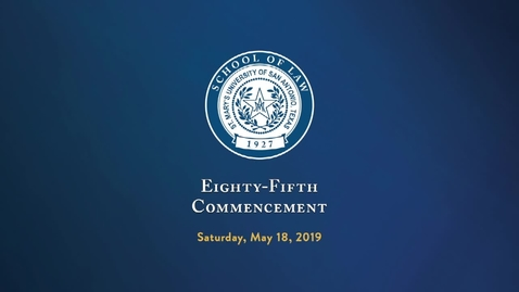 Thumbnail for entry Eighty-Fifth Annual Spring Commencement-School of Law / May 18, 2019