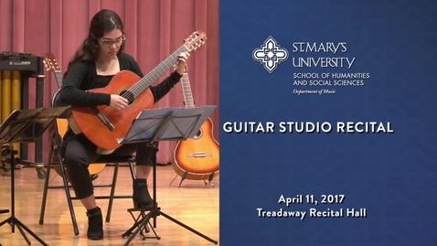 Thumbnail for entry Guitar Studio Recital - April 11, 2017