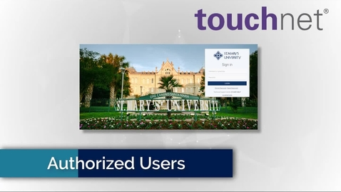 Thumbnail for entry Setting up Authorized users to your Account