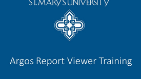 Thumbnail for entry STMU Argos Report Viewer Guide