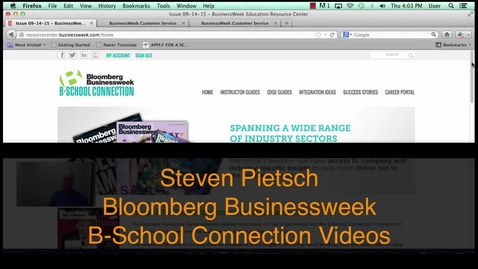 Thumbnail for entry Bloomberg B-School Connection Guides and Reading Buckets
