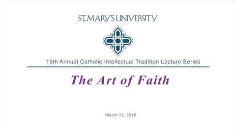 Thumbnail for entry Catholic Intellectual Tradition Lecture Series featuring Sharon and David Halsey-Hoover -- 2017
