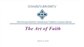 Thumbnail for entry Catholic Intellectual Tradition Lecture Series featuring Sharon and David Halsey-Hoover --March 21, 2017