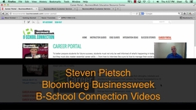 Thumbnail for entry Bloomberg B-School Connection Student Resources and Career Readiness Tools