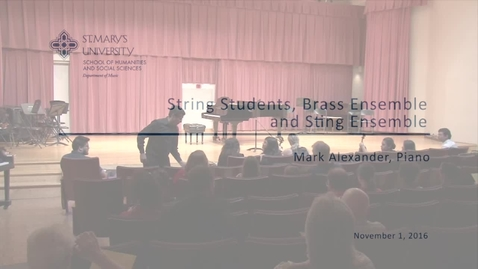 Thumbnail for entry String Students, Brass Ensemble and String Ensemble--November 1, 2016