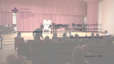 Thumbnail for entry String Students, Brass Ensemble and String Ensemble--November 1, 2016