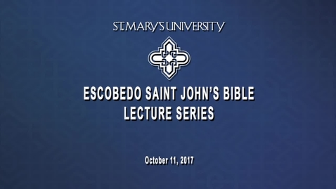 Thumbnail for entry 2017 Escobedo Saint John's Bible Lecture Series / Carol J. Dempsey / Oct. 11, 2017