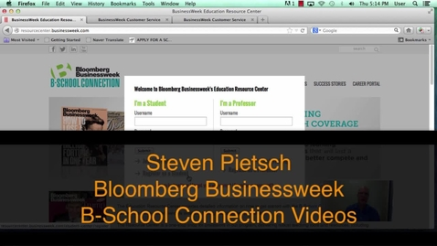 Thumbnail for entry Bloomberg B-School Connection Overview