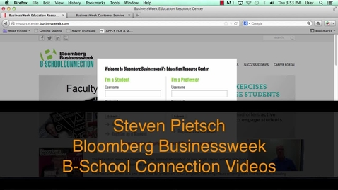 Thumbnail for entry Bloomberg B-School Connection Register