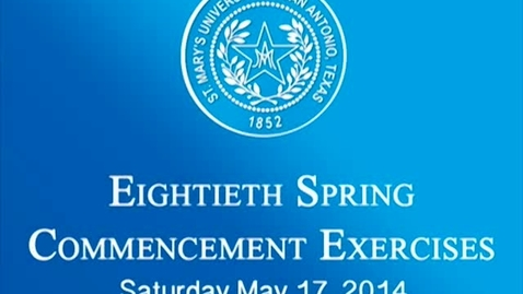 Thumbnail for entry Spring 2014 School of Law Graduation