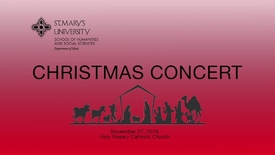 Thumbnail for entry CHRISTMAS CONCERT-November 27, 2018