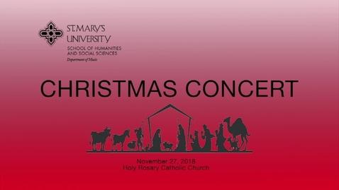 Thumbnail for entry CHRISTMAS CONCERT-November 27, 2018
