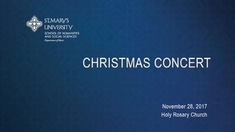Thumbnail for entry Christmas Recital -- November 28, 2017