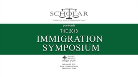 Thumbnail for entry Javier  Maldonado--The 2018 Immigration Symposium --Feb. 23, 2018