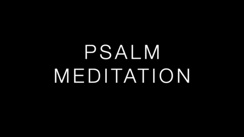 Thumbnail for entry Psalm 42