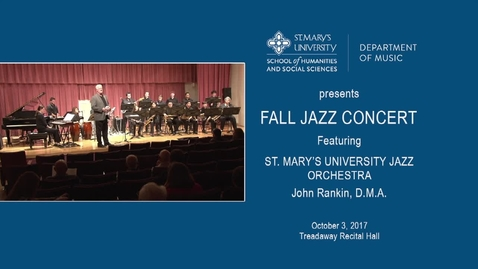 Thumbnail for entry Fall Jazz Concert--October 3, 2017