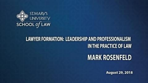 Thumbnail for entry Mark Rosenfield- August 29, 2018