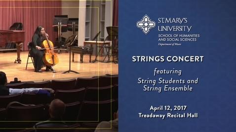 Thumbnail for entry String Ensemble Concert - April 12, 2017