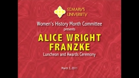 Thumbnail for entry 2011 Alice Wright Franzke Luncheon and Awards Ceremony--March 3, 2011