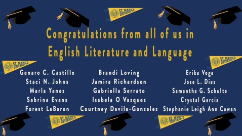 Thumbnail for entry English Literature and Language--Senior Send Offs 2020