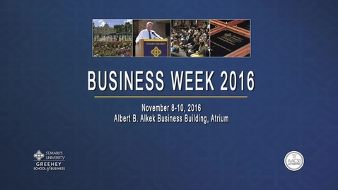 Thumbnail for entry 2016 Business Week: La Quinta Keynote Lecture The Honorable Ivy R. Taylor, Mayor of San Antonio