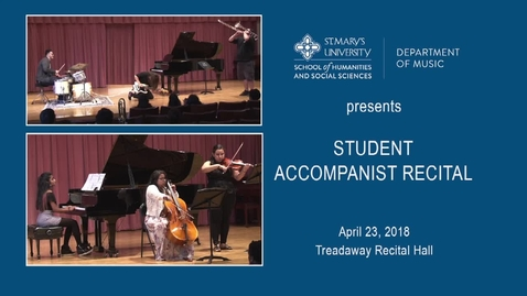 Thumbnail for entry Student Accompanist Recital---April 23, 2018