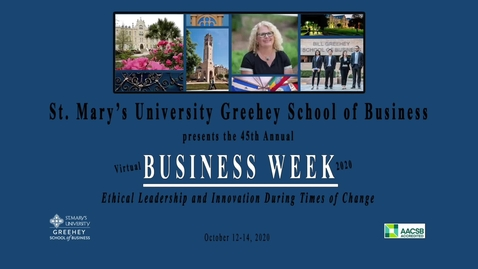 Thumbnail for entry Virtual  Business Week Awards Ceremony -- October 15, 2020
