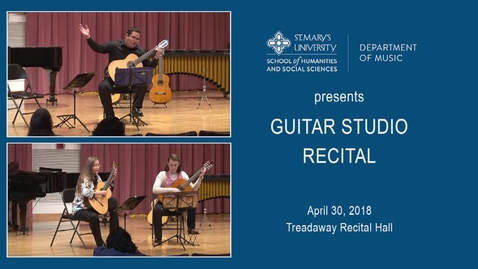 Thumbnail for entry Guitar Studio Recital---April 30, 2018